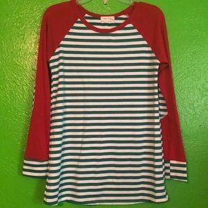 Twenty second striped long sleeve shirt